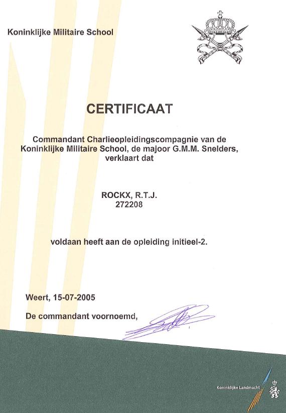 Certificaat KMS INI-2